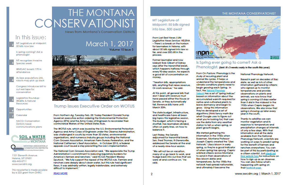 The Montana Conservationist, March 1