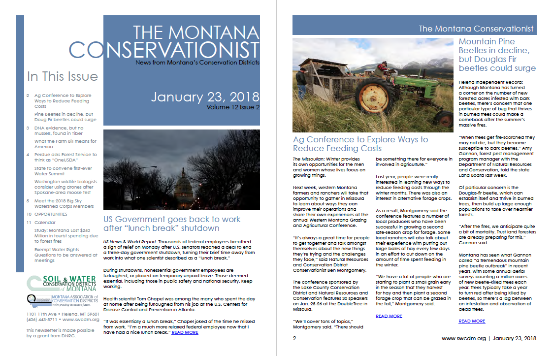 The Montana Conservationist January 23