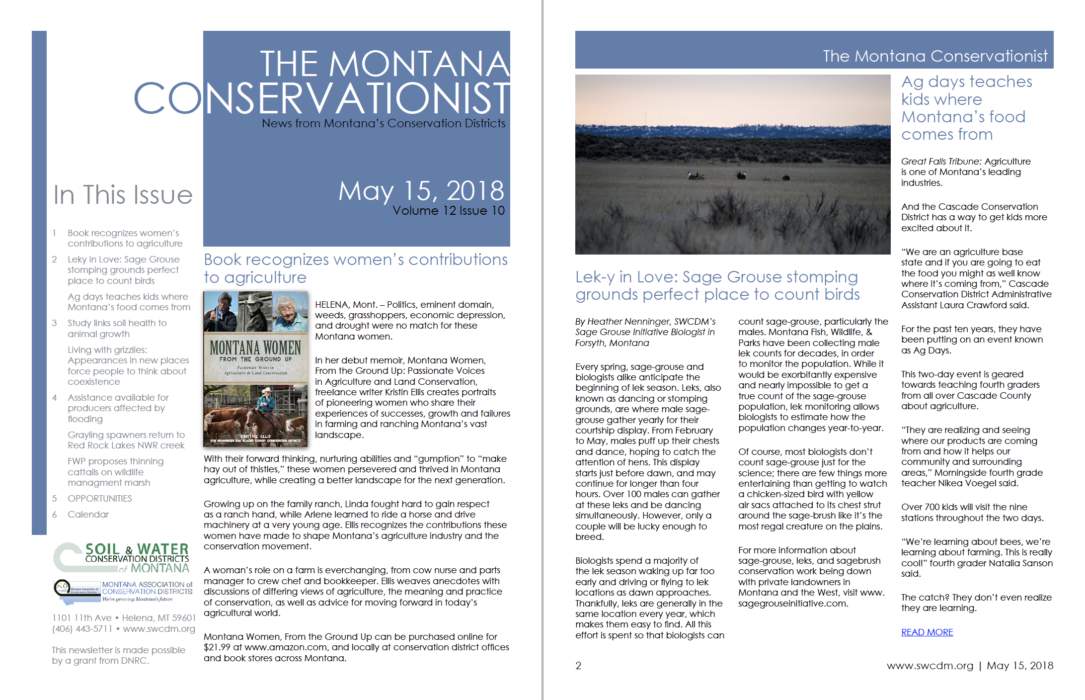 The Montana Conservationist, May 15