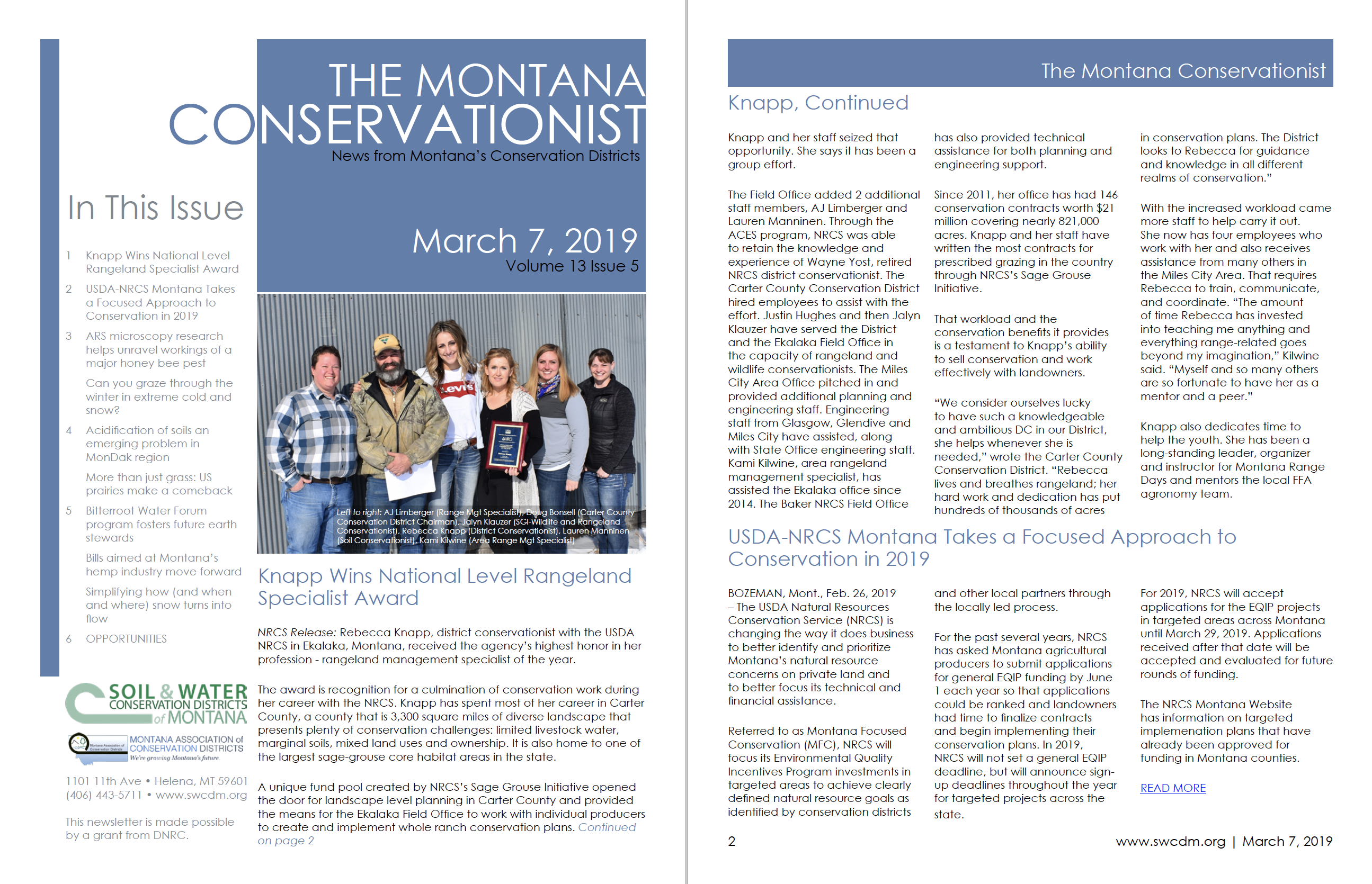 The Montana Conservationist March 7